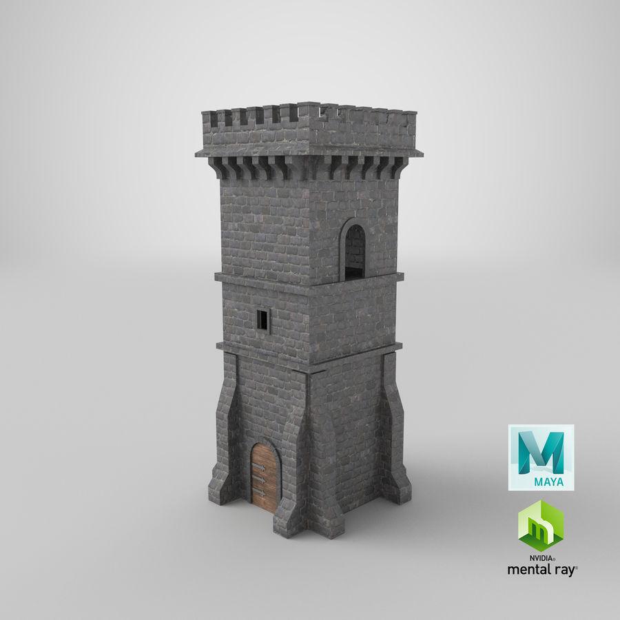 Torre da torre do castelo royalty-free 3d model - Preview no. 17