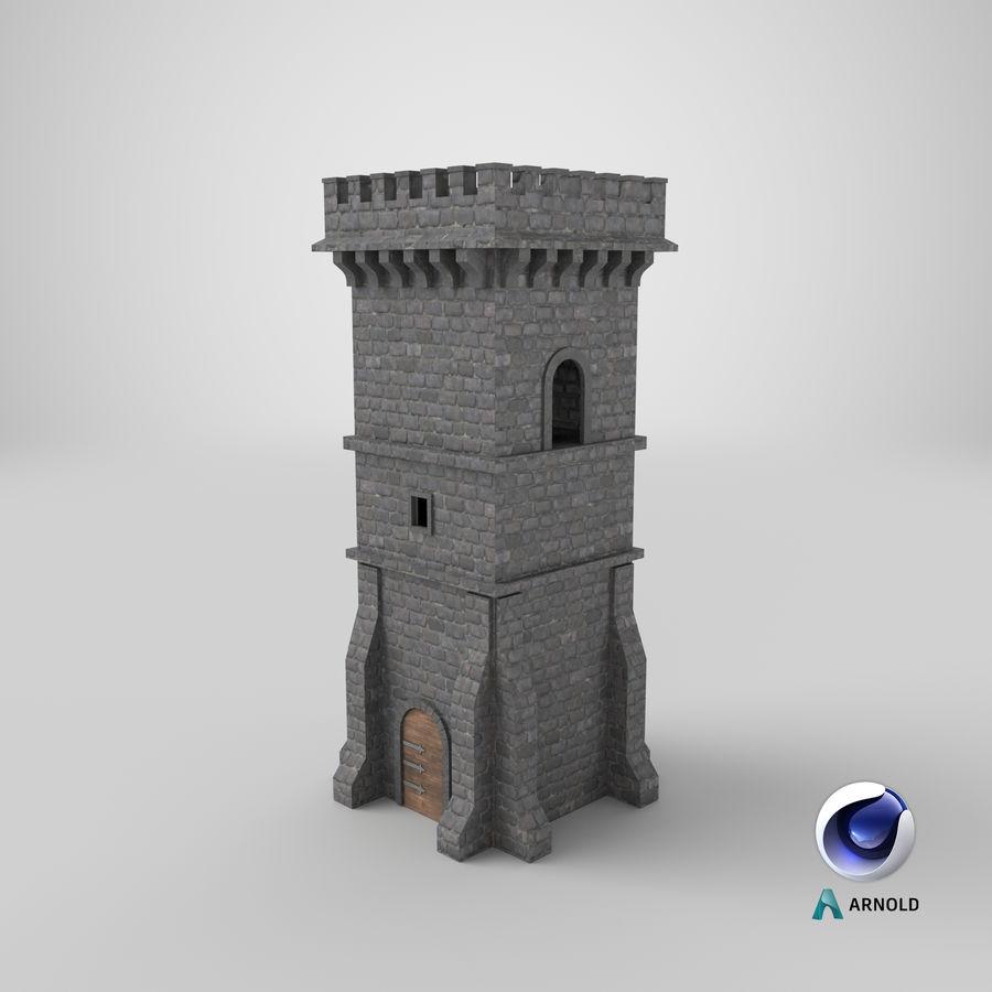 Torre da torre do castelo royalty-free 3d model - Preview no. 12