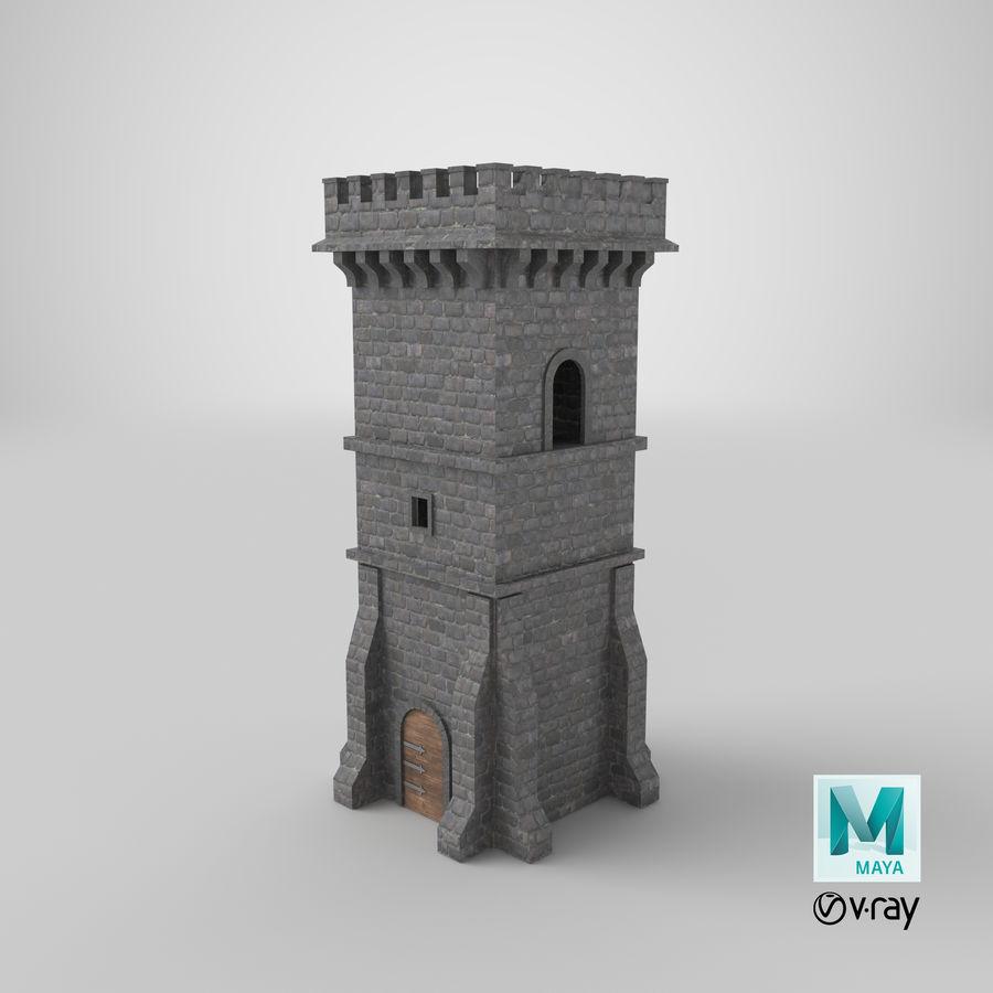Torre da torre do castelo royalty-free 3d model - Preview no. 18