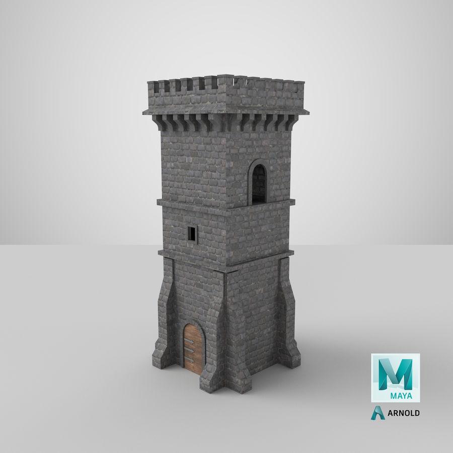 Torre da torre do castelo royalty-free 3d model - Preview no. 16