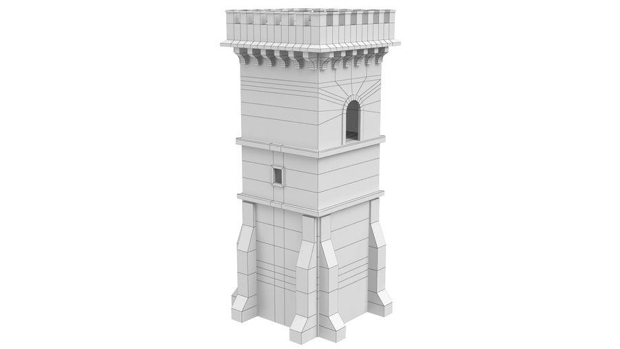 Torre da torre do castelo royalty-free 3d model - Preview no. 9