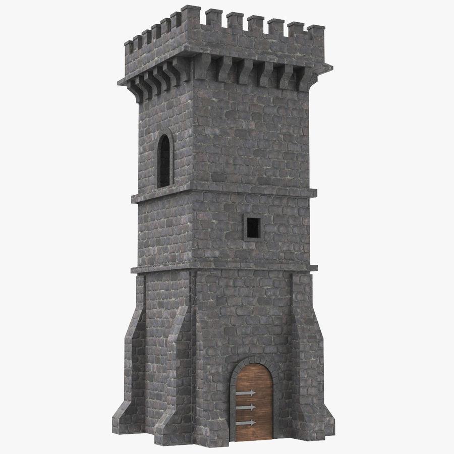 Torre da torre do castelo royalty-free 3d model - Preview no. 1