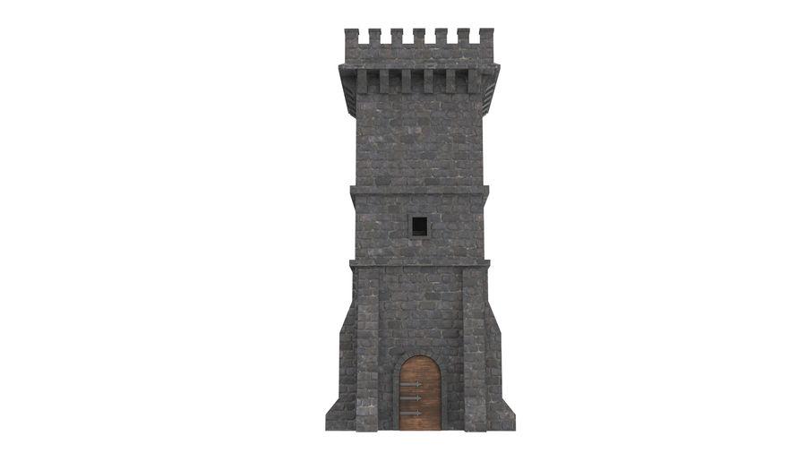Torre da torre do castelo royalty-free 3d model - Preview no. 6