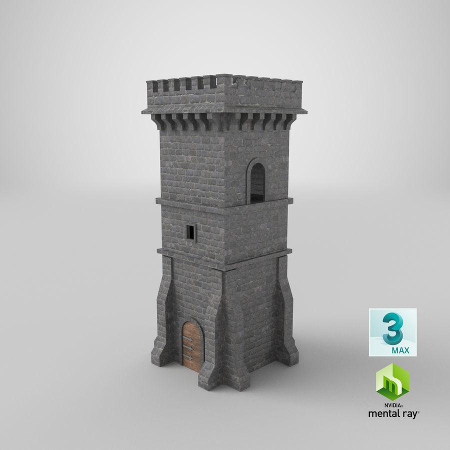 Torre da torre do castelo royalty-free 3d model - Preview no. 14