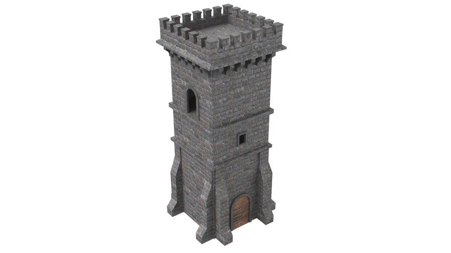 Torre da torre do castelo royalty-free 3d model - Preview no. 4