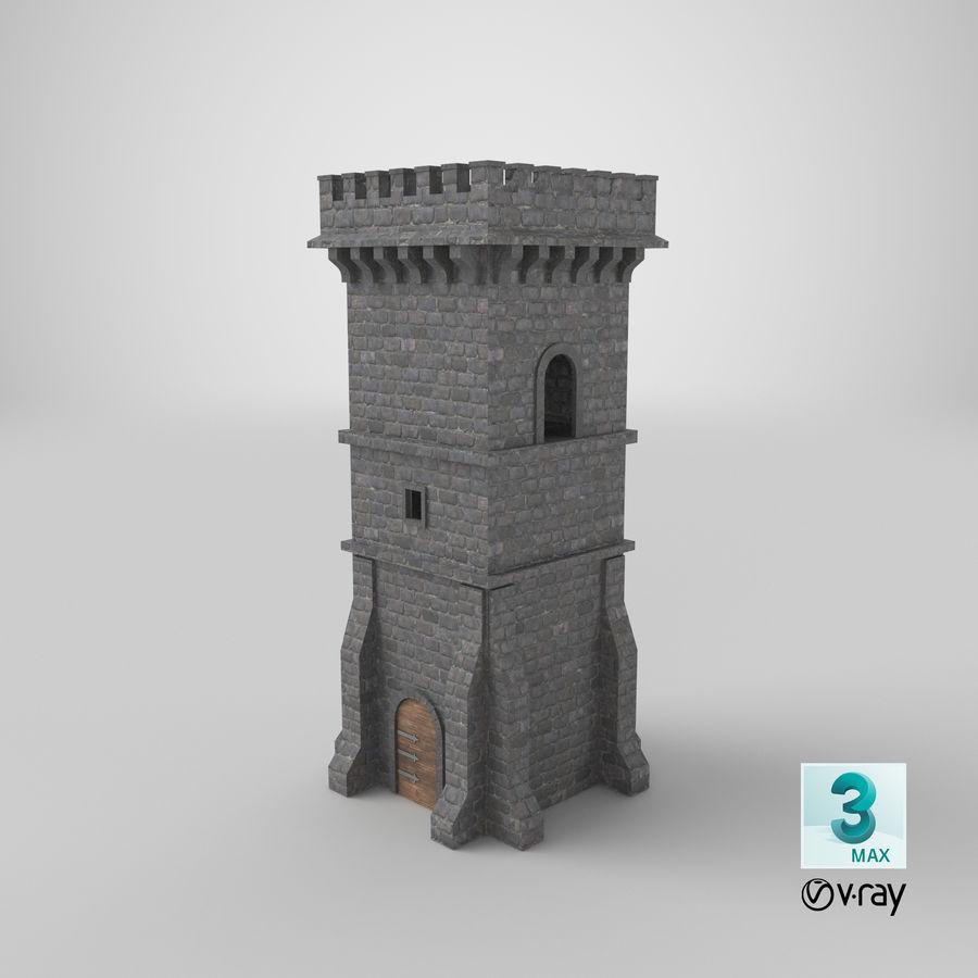 Torre da torre do castelo royalty-free 3d model - Preview no. 15