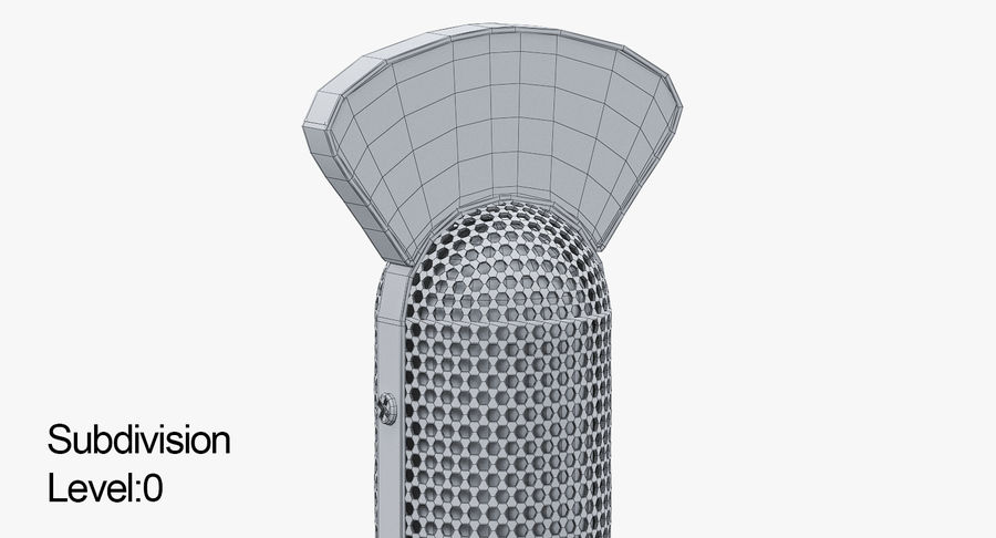 Vintage Broadcast Microphone royalty-free 3d model - Preview no. 10