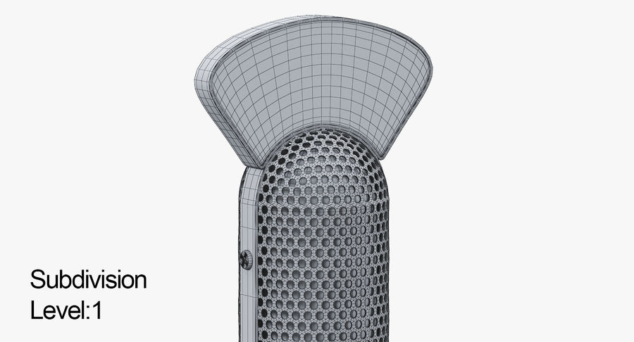 Vintage Broadcast Microphone royalty-free 3d model - Preview no. 11