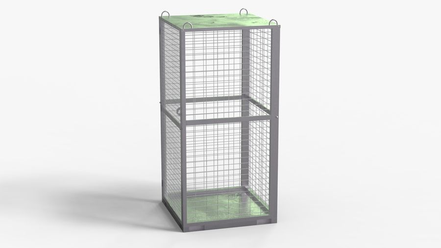Storage Cage royalty-free 3d model - Preview no. 4