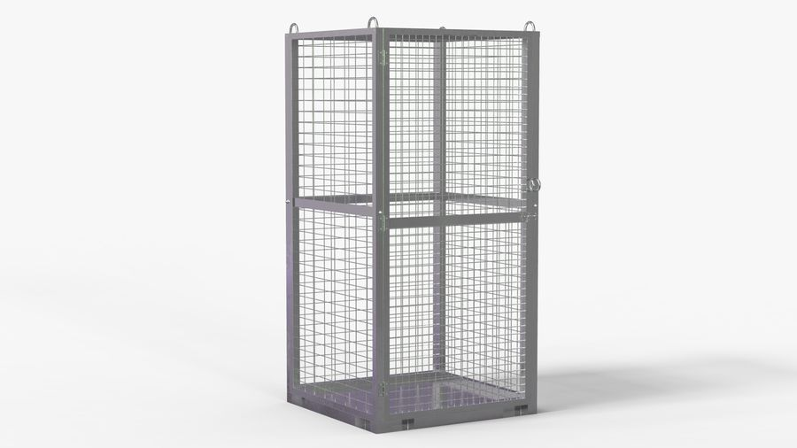 Storage Cage royalty-free 3d model - Preview no. 2