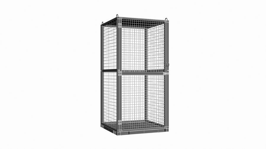 Storage Cage royalty-free 3d model - Preview no. 10
