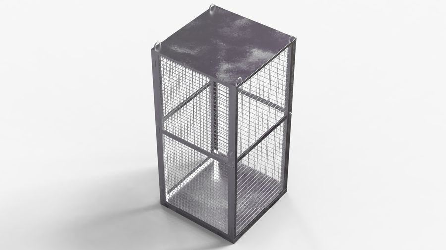 Storage Cage royalty-free 3d model - Preview no. 3