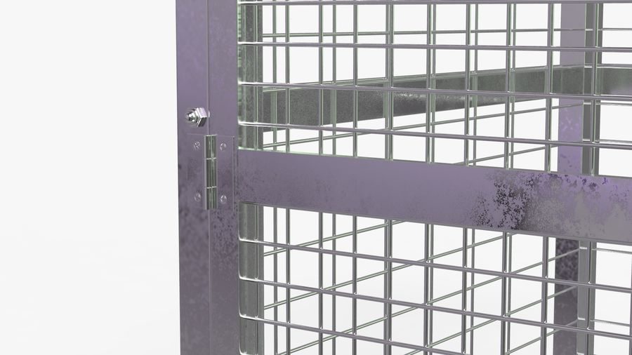 Storage Cage royalty-free 3d model - Preview no. 7