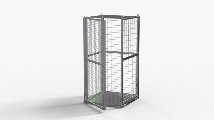 Storage Cage royalty-free 3d model - Preview no. 8