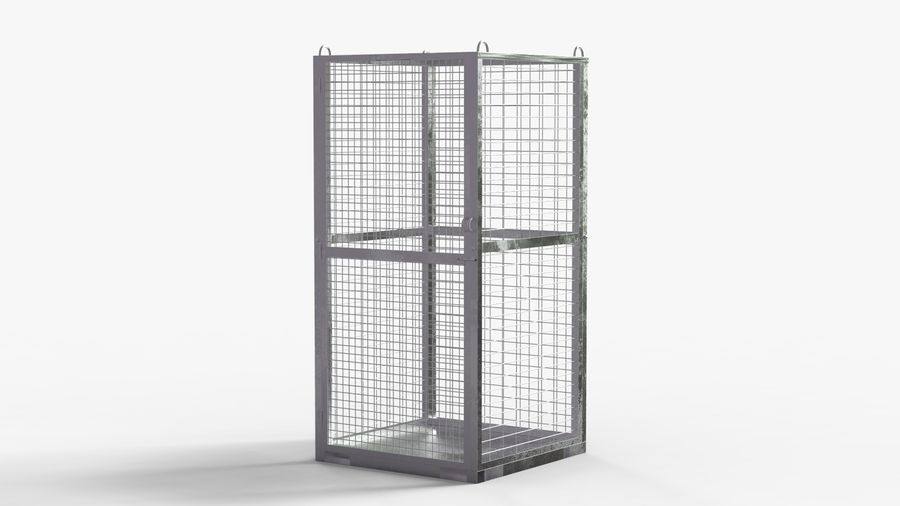 Storage Cage royalty-free 3d model - Preview no. 5