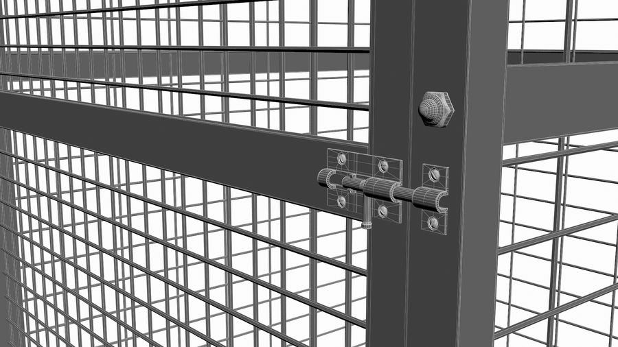 Storage Cage royalty-free 3d model - Preview no. 12