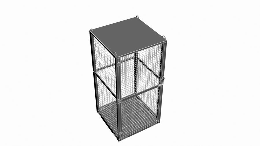 Storage Cage royalty-free 3d model - Preview no. 14
