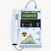 Digital Geiger Counter with External Wand 3d model