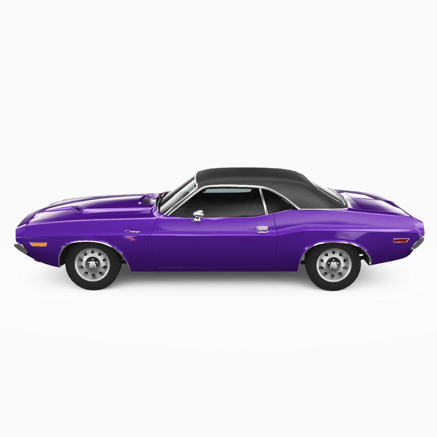 Dodge Challenger RT 1970 royalty-free 3d model - Preview no. 4