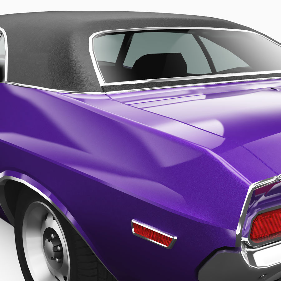 Dodge Challenger RT 1970 royalty-free 3d model - Preview no. 6
