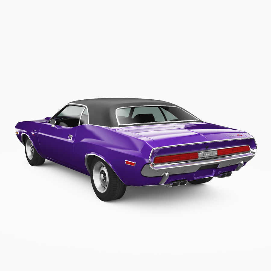 Dodge Challenger RT 1970 royalty-free 3d model - Preview no. 2