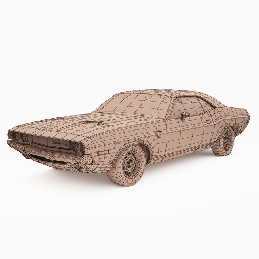 Dodge Challenger RT 1970 royalty-free 3d model - Preview no. 3