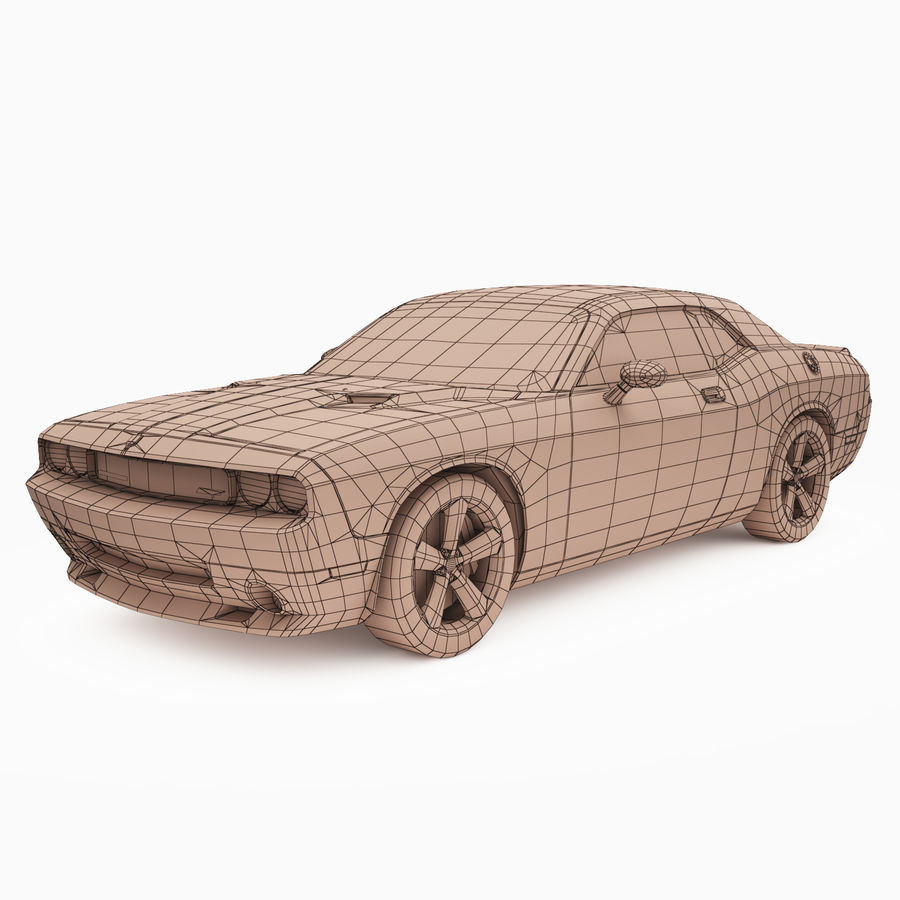Dodge Challenger SRT8 2009 royalty-free modelo 3d - Preview no. 3