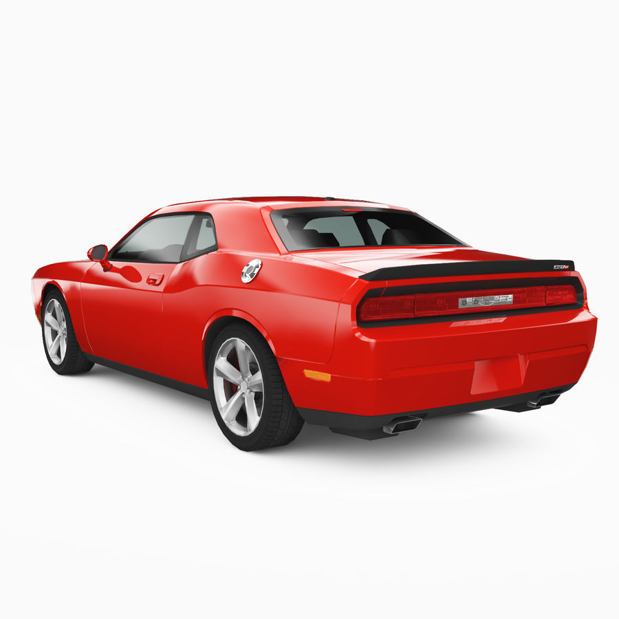 Dodge Challenger SRT8 2009 royalty-free modelo 3d - Preview no. 2