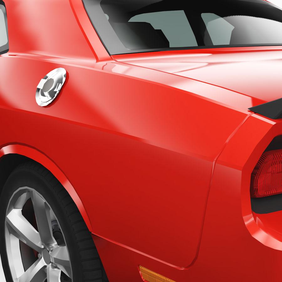 Dodge Challenger SRT8 2009 royalty-free modelo 3d - Preview no. 6