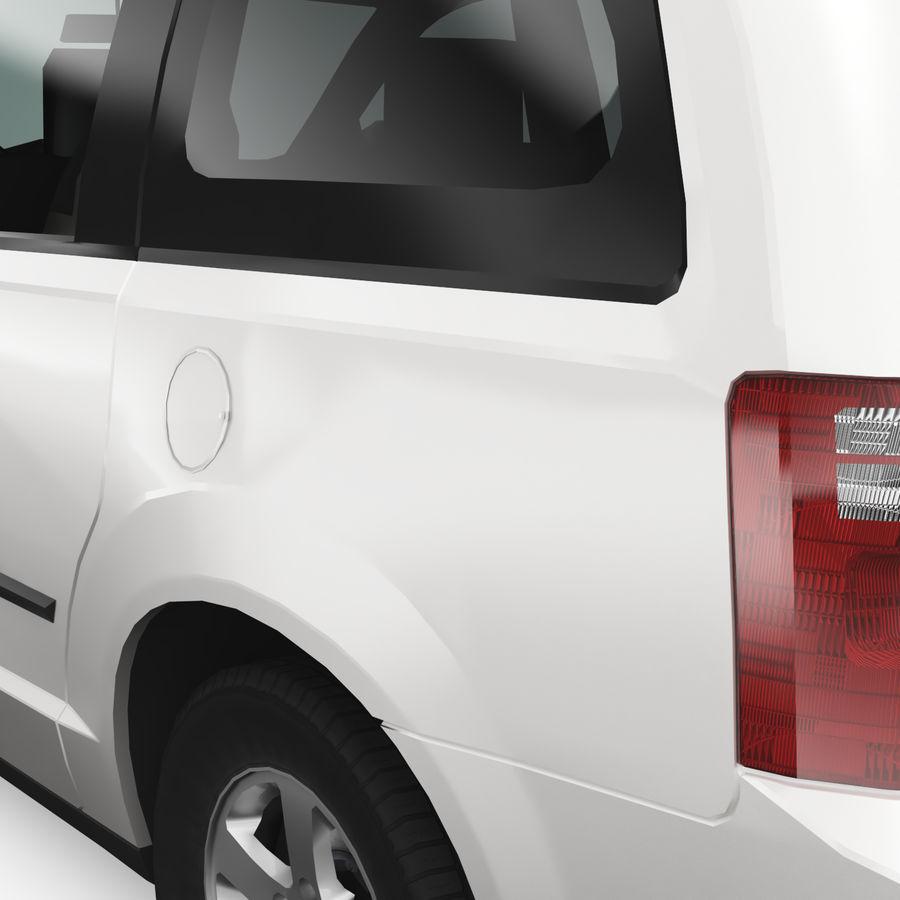 Dodge Grand Caravan 2009 royalty-free 3d model - Preview no. 6