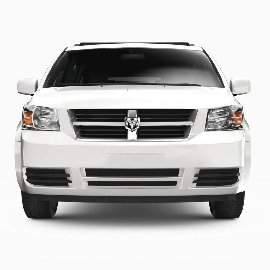 Dodge Grand Caravan 2009 royalty-free 3d model - Preview no. 5