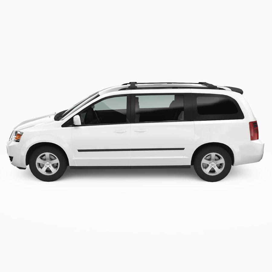 Dodge Grand Caravan 2009 royalty-free 3d model - Preview no. 4