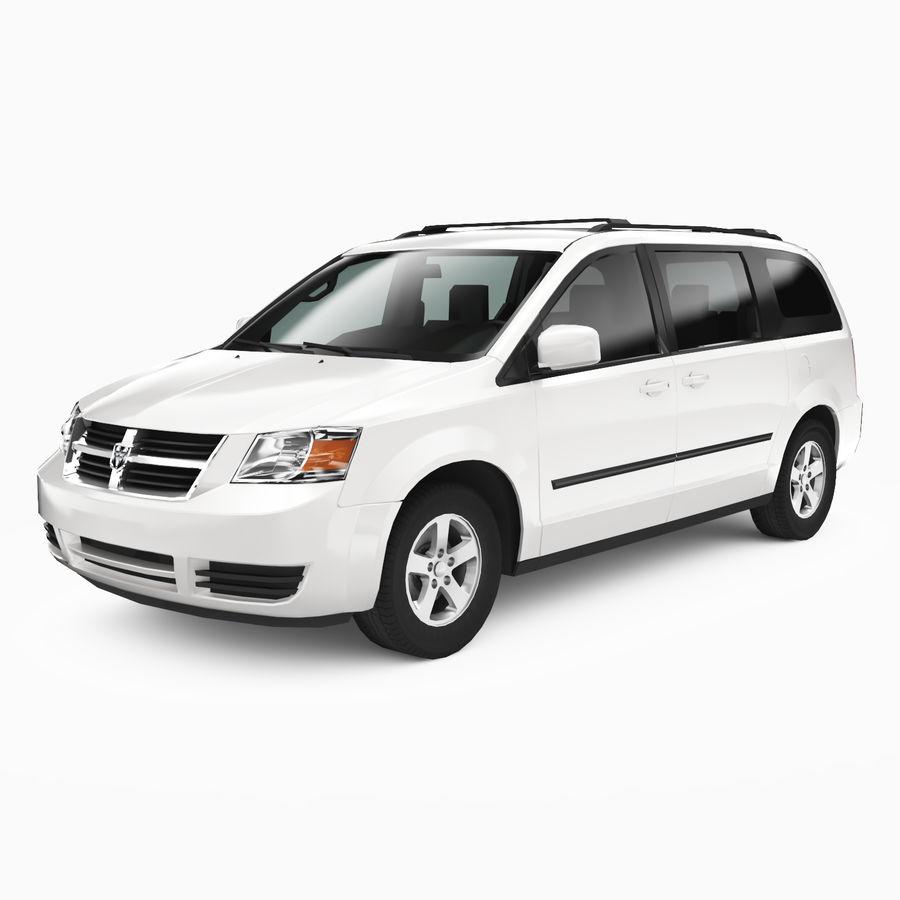 Dodge Grand Caravan 2009 royalty-free 3d model - Preview no. 1