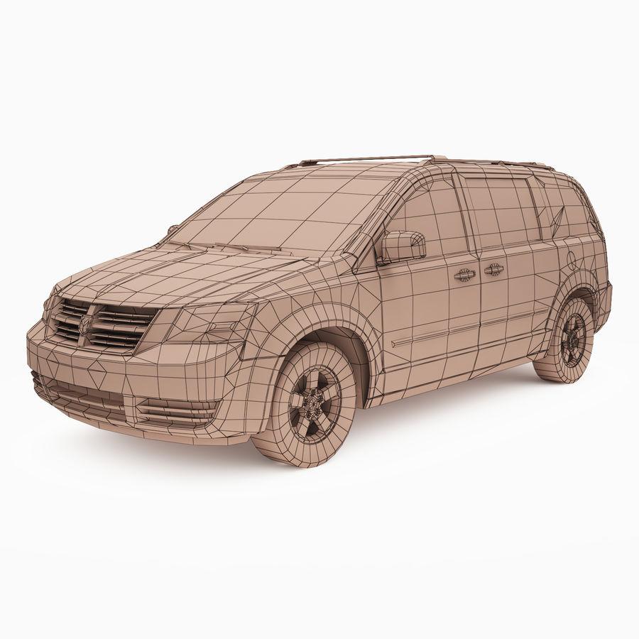 Dodge Grand Caravan 2009 royalty-free 3d model - Preview no. 3