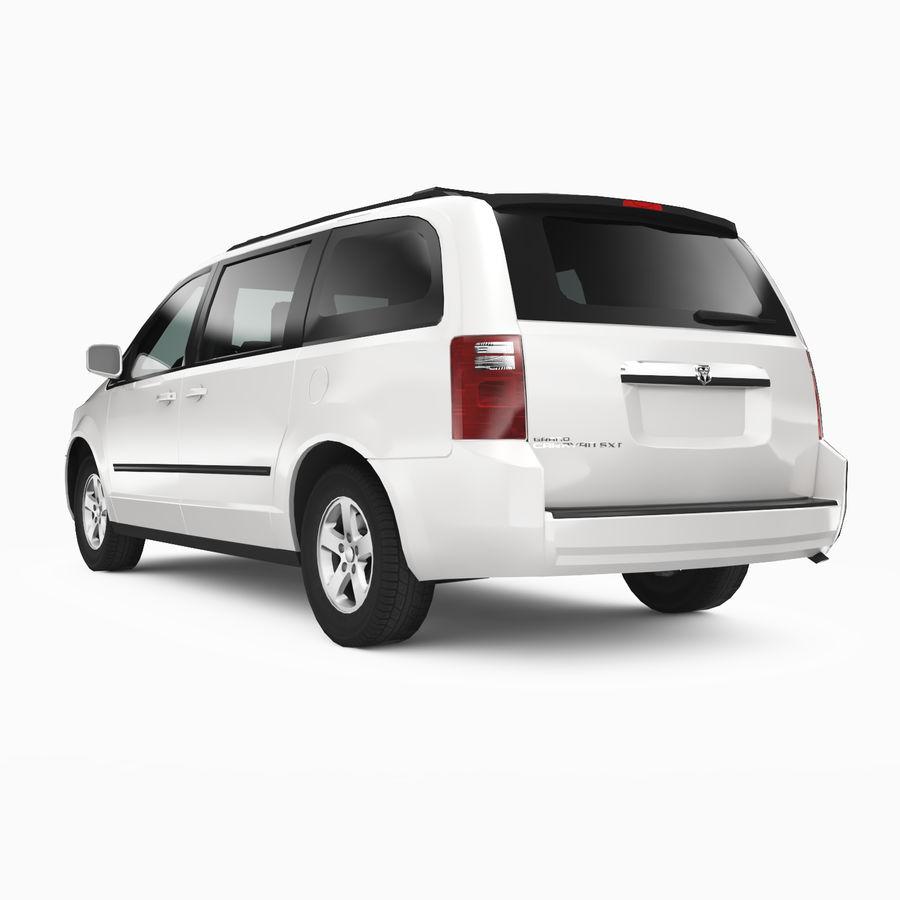 Dodge Grand Caravan 2009 royalty-free 3d model - Preview no. 2