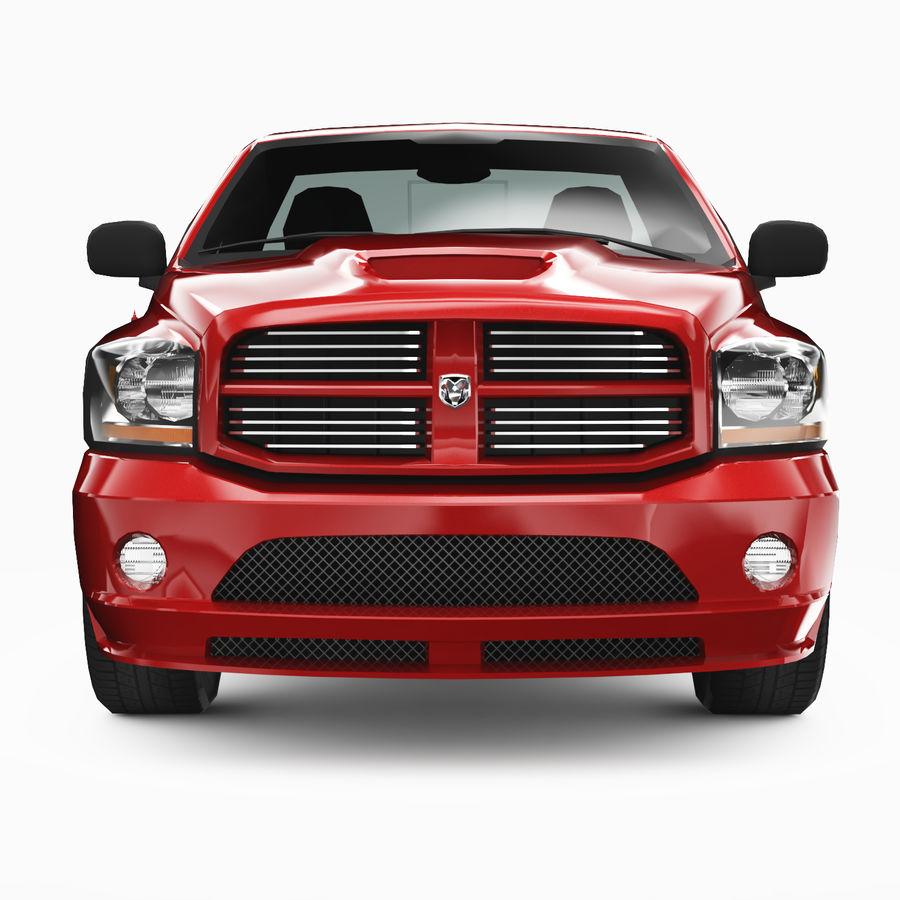 Dodge Ram SRT10 2006 royalty-free 3d model - Preview no. 5
