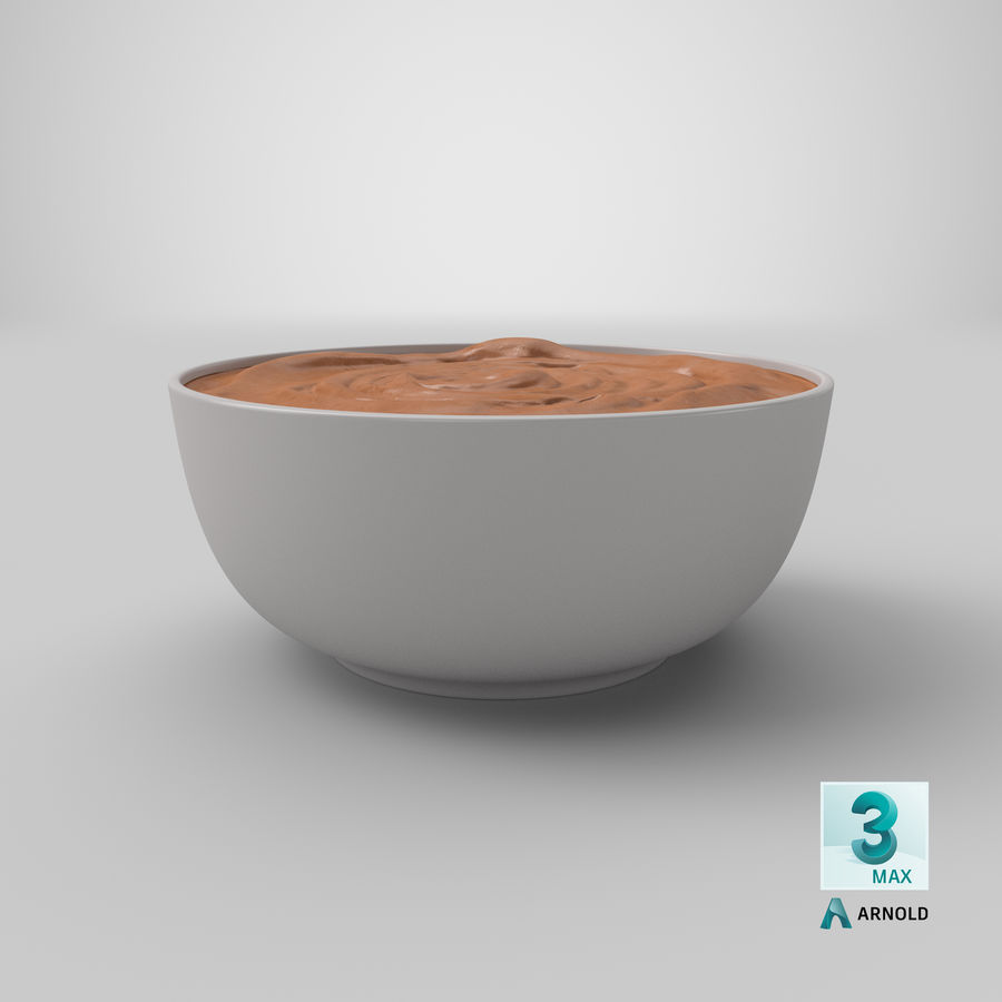 Peanut Butter in a Plate royalty-free 3d model - Preview no. 32