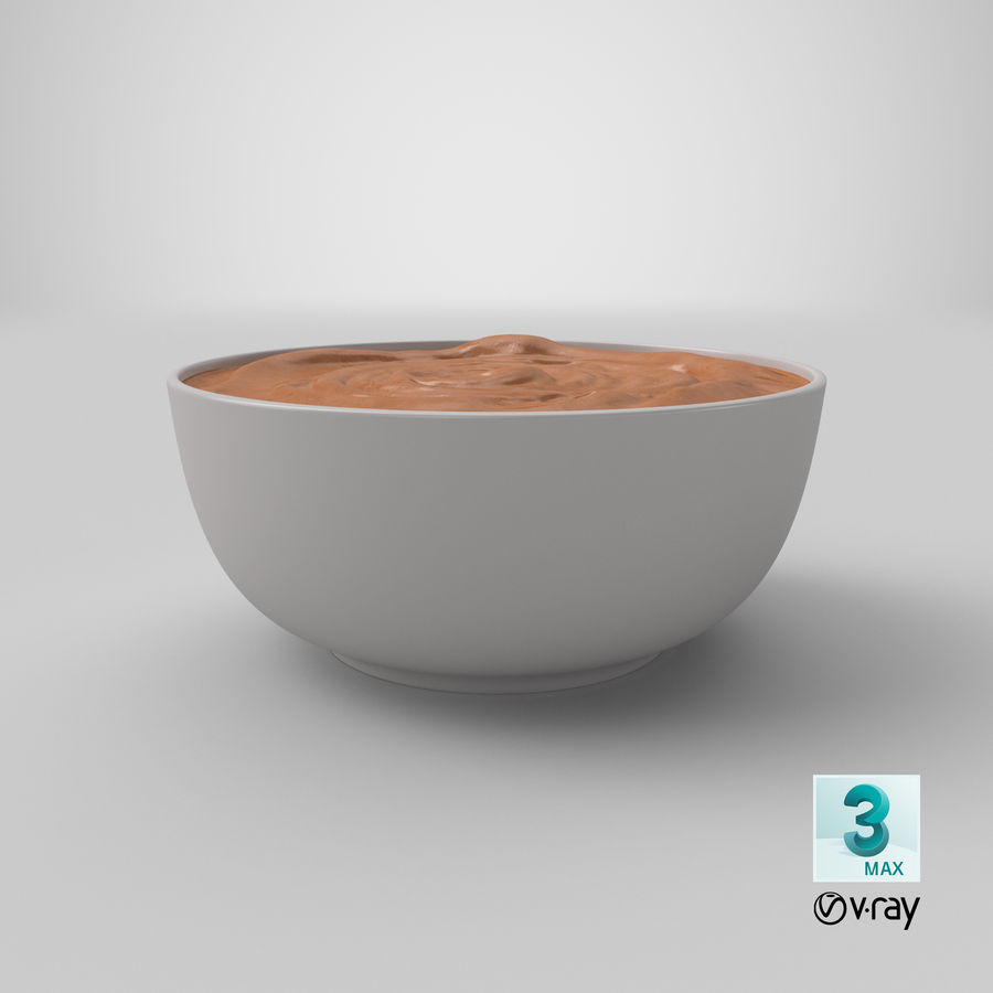 Peanut Butter in a Plate royalty-free 3d model - Preview no. 34