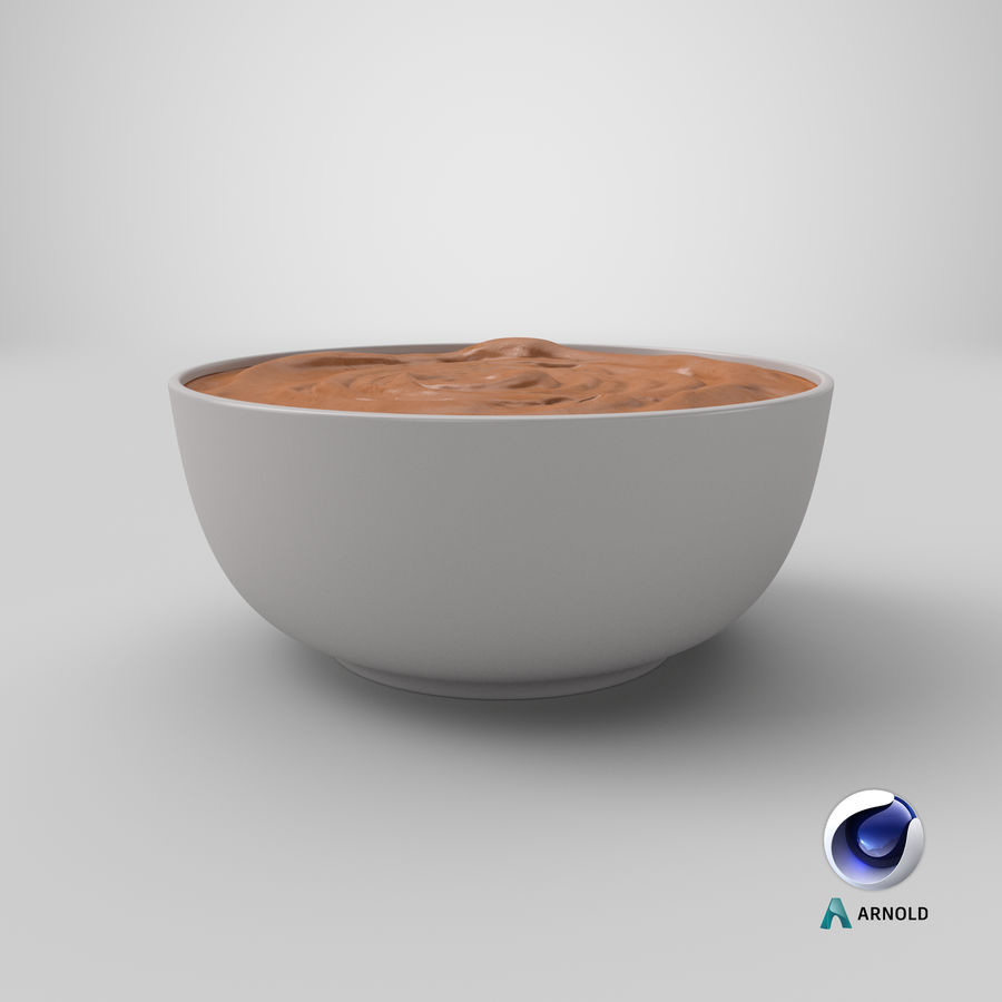 Peanut Butter in a Plate royalty-free 3d model - Preview no. 31