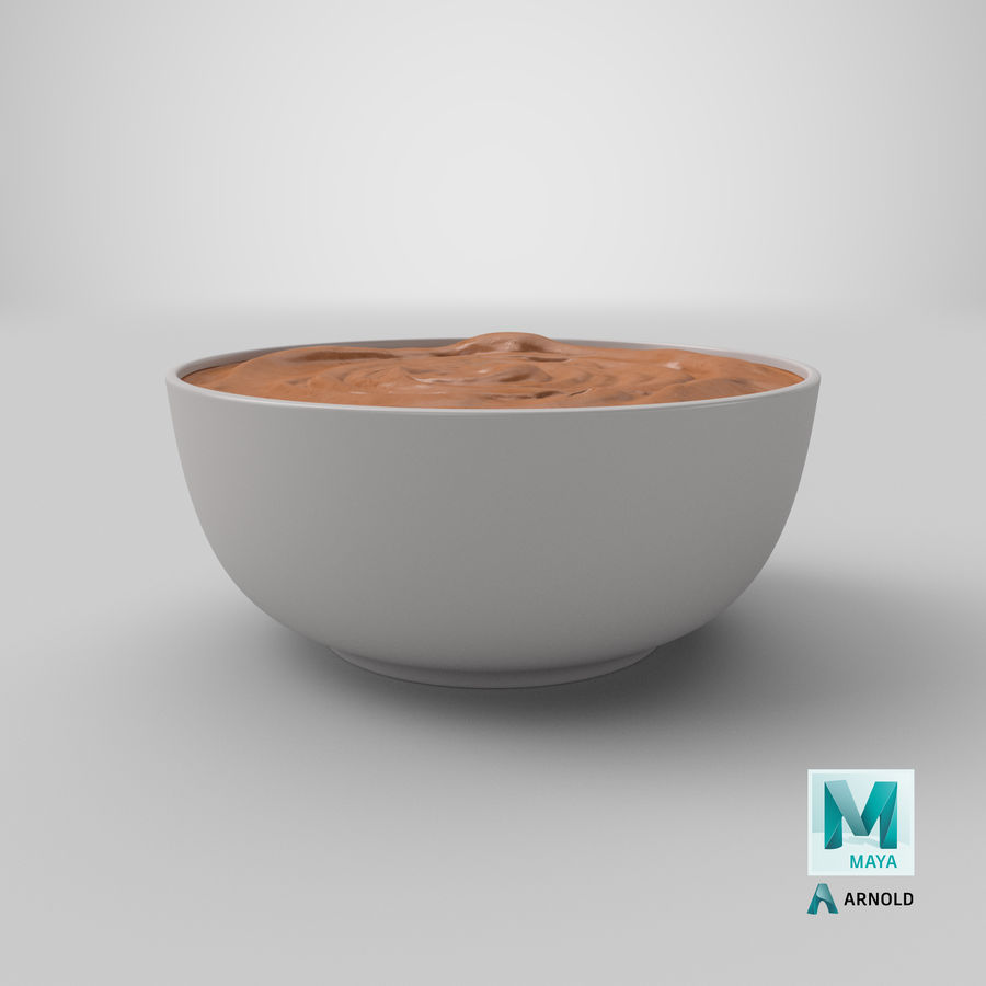 Peanut Butter in a Plate royalty-free 3d model - Preview no. 35