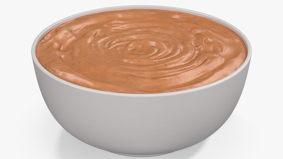 Peanut Butter in a Plate royalty-free 3d model - Preview no. 2