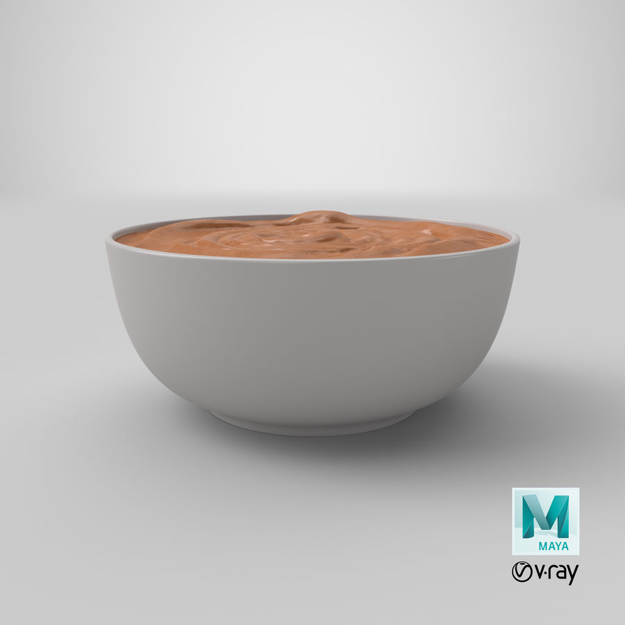 Peanut Butter in a Plate royalty-free 3d model - Preview no. 37