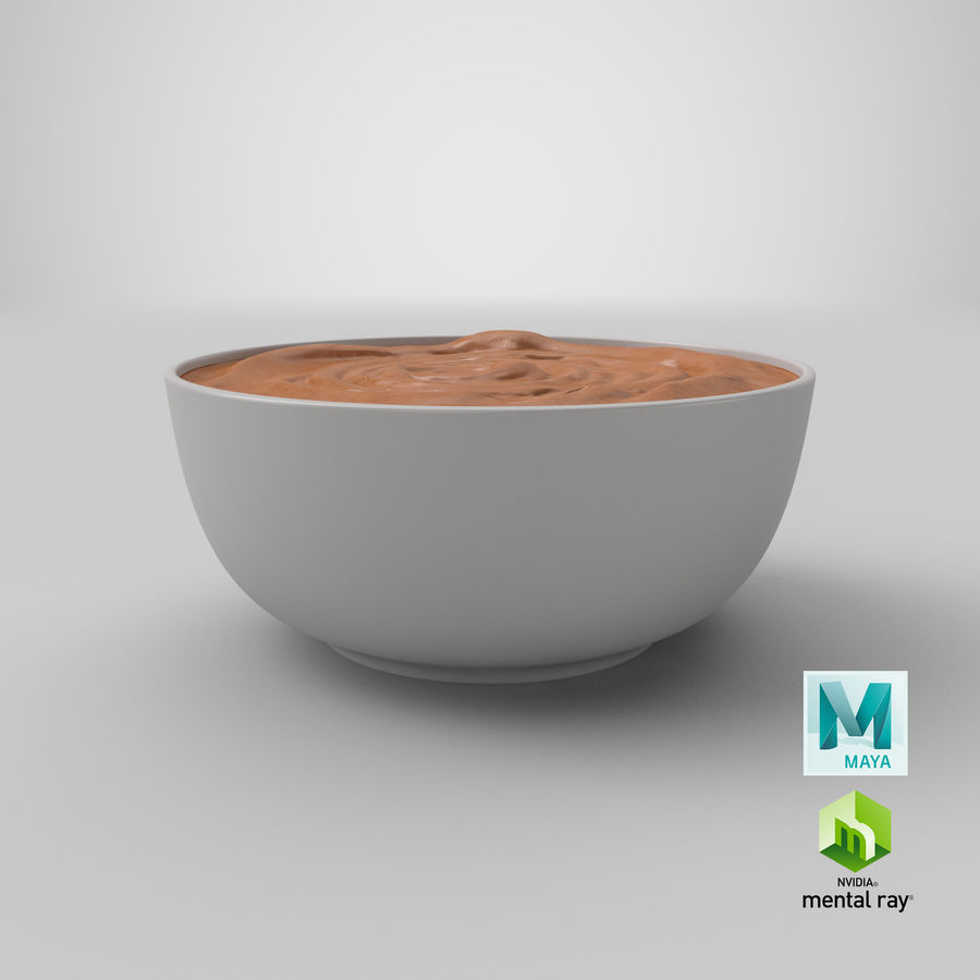 Peanut Butter in a Plate royalty-free 3d model - Preview no. 36