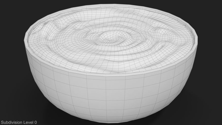 Peanut Butter in a Plate royalty-free 3d model - Preview no. 14