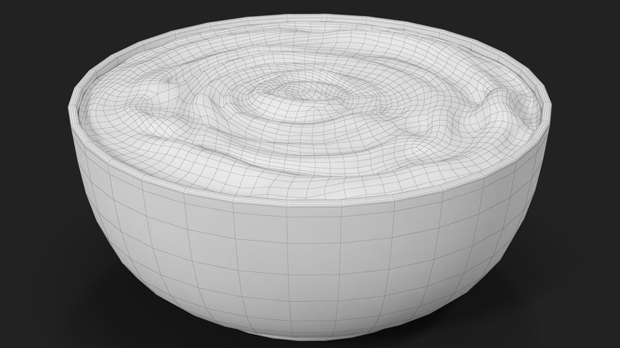 Peanut Butter in a Plate royalty-free 3d model - Preview no. 20
