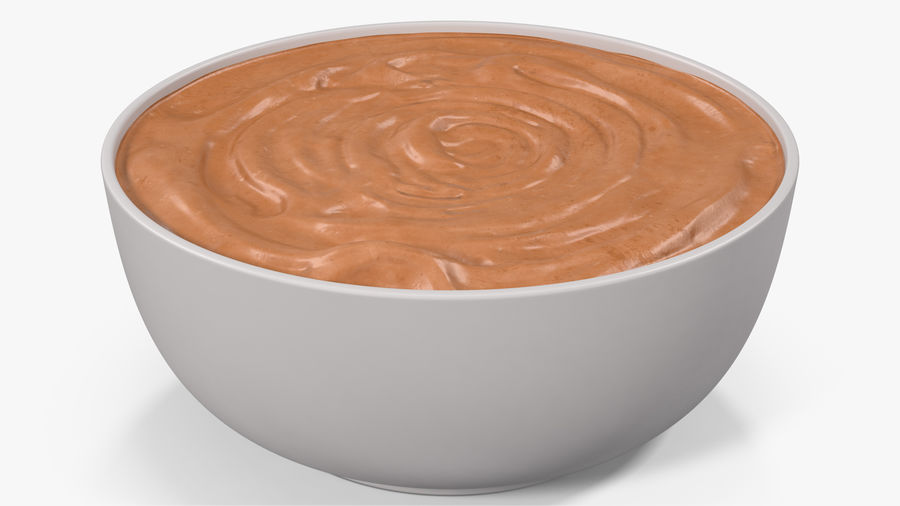 Peanut Butter in a Plate royalty-free 3d model - Preview no. 3