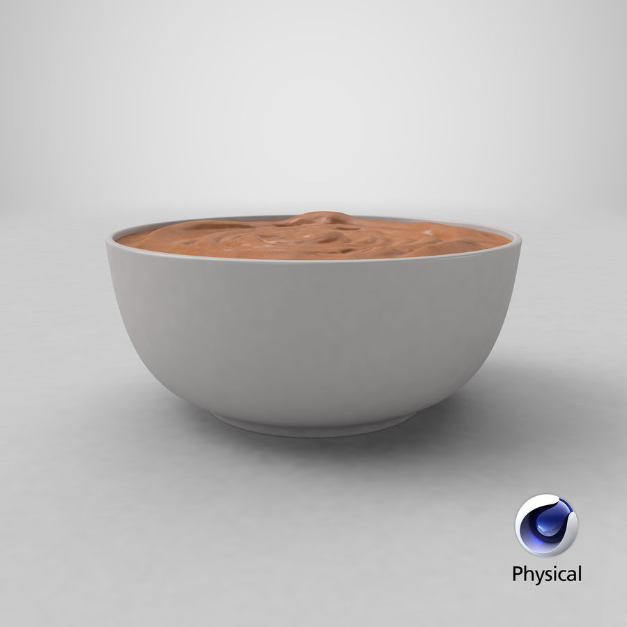 Peanut Butter in a Plate royalty-free 3d model - Preview no. 30