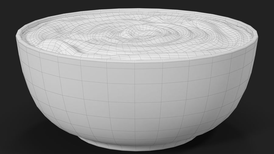 Peanut Butter in a Plate royalty-free 3d model - Preview no. 27
