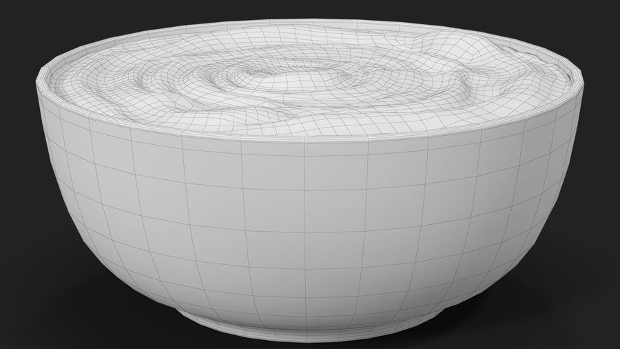 Peanut Butter in a Plate royalty-free 3d model - Preview no. 29