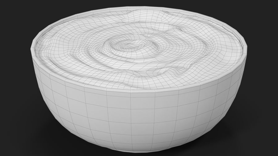 Peanut Butter in a Plate royalty-free 3d model - Preview no. 21